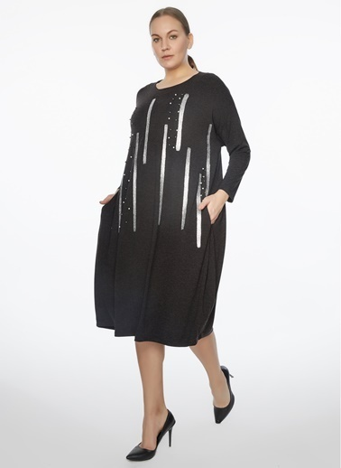 WHIP Design Elbise Antrasit